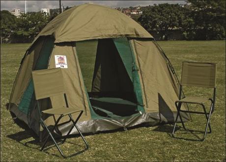 Acacia accommodation acacia blog for Permanent camping tents