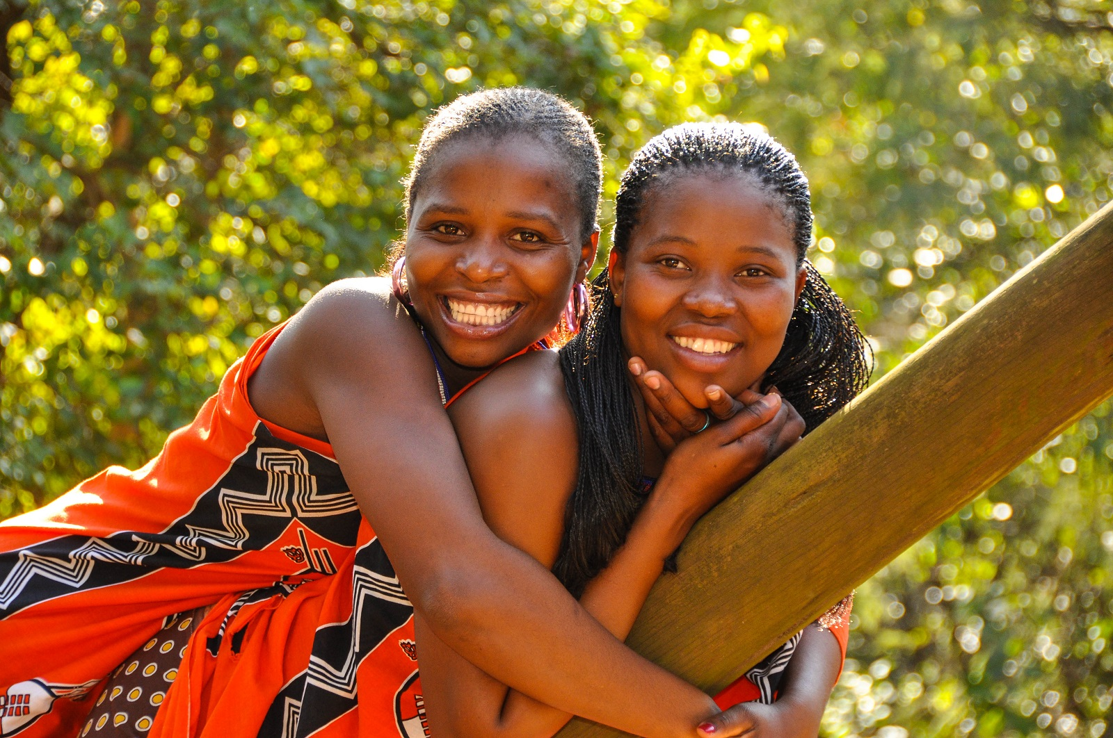 Girls celebrating   uMcwasho Ceremony   Swaziland   OzOutback