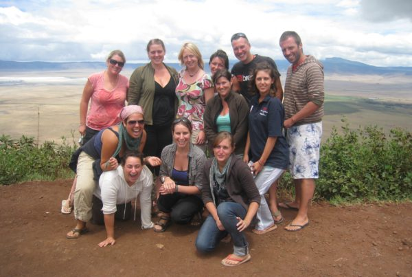 overlanders-posing-on-the-rim-of-the-ngorongoro-crater-tanzania