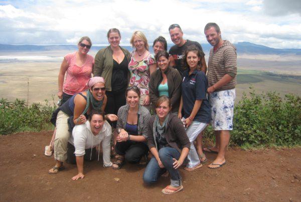 overlanders-posing-on-the-rim-of-the-ngorongoro-crater-tanzania