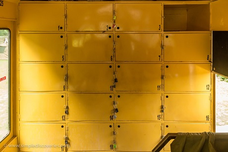 These are all the available lockers on our Acacia Africa overland vehicle – plenty of space if you pack simply!
