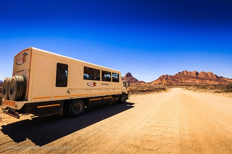 Preparing for adventure in Spitzkoppe, Namibia.