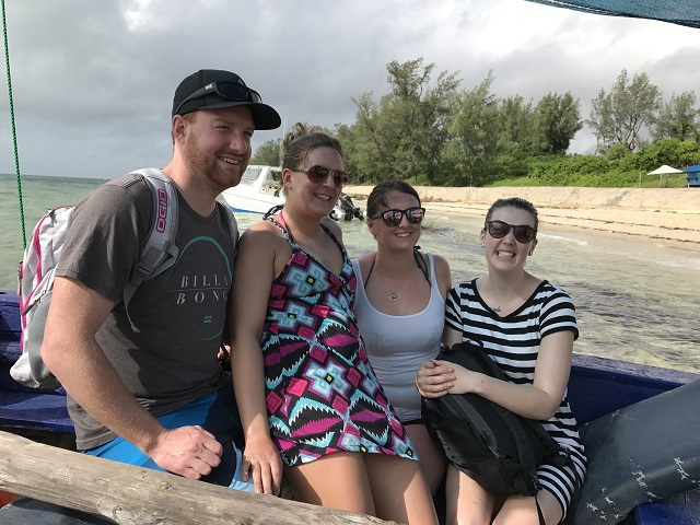 Pax on dhow, SH trip (March 2017)