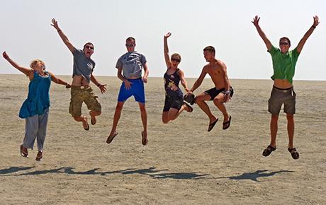 Etosha Pan Jumping for Fun