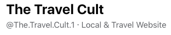 The Travel Cult. Facebook details